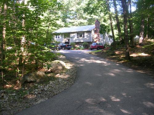 Long driveway.  House is set back from the street.